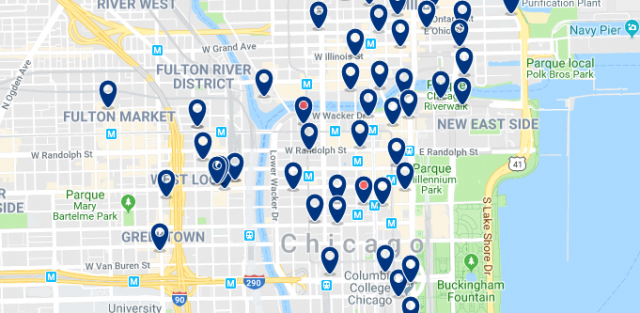 Accommodation in West Loop - Click on the map to see all available accommodation in this area