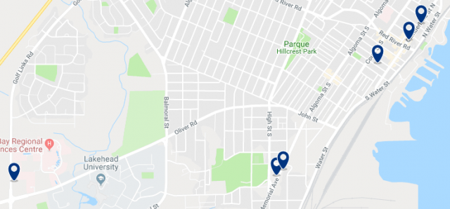 Accommodation in Downtown Halifax – Click on the map to see all available accommodation in this area
