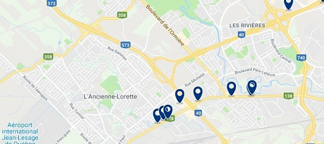 Accommodation in Les Rivières - Click on the map to see all available accommodation in this area