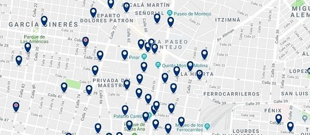 Alojamiento en Paseo de Montejo - Haz clic para ver todo el alojamiento disponible en esta zona