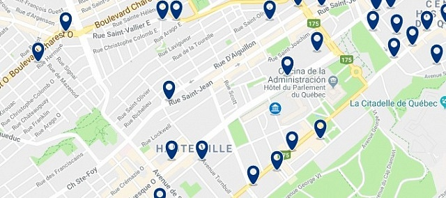 Accommodation in Saint Jean Baptiste - Click on the map to see all available accommodation in this area