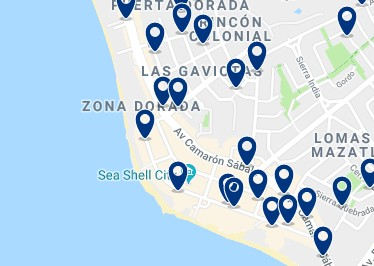 Accommodation in Zona Dorada – Click on the map to see all available accommodation in this area