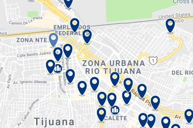 Accommodation in Rio Tijuana - Click on the map to see all available accommodation in this area