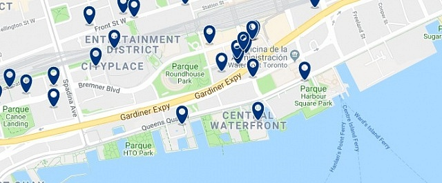 Accommodation in Harbourfront - Click on the map to see all available accommodation in this area