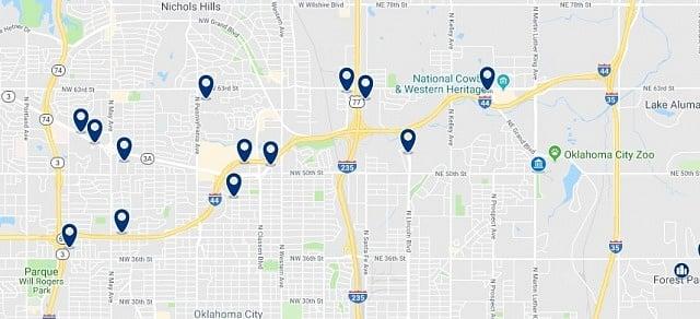 Alojamiento en North Oklahoma City - Haz clic para ver todo el alojamiento disponible en esta zona
