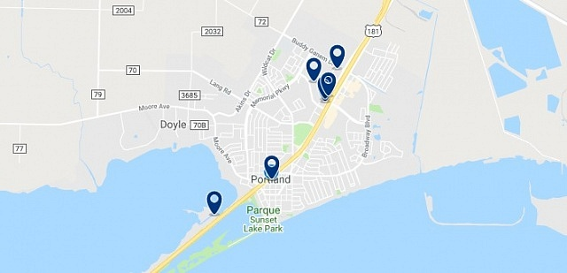 Accommodation in Portland - Click on the map to see all available accommodation in this area
