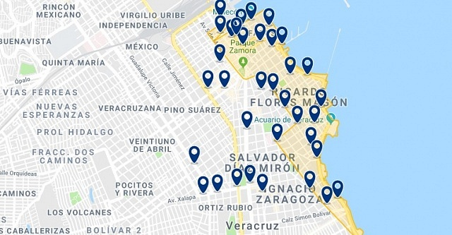 Accommodation in Malecon - Click on the map to see all available accommodation in this area