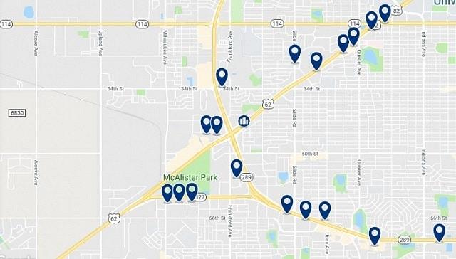 Alojamiento en West Lubbock - Haz clic para ver todo el alojamiento disponible en esta zona