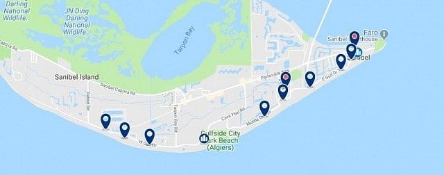 Alojamiento en Sanibel Island - Haz clic para ver todo el alojamiento disponible en esta zona