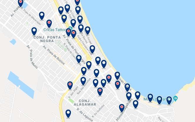 Accommodation in Via Costeira - Click on the map to see all available accommodation in this area