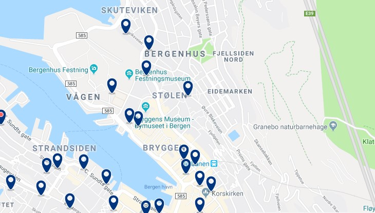 Accommodation in Bergenhus - Click to see all available accommodation on a map
