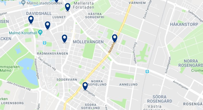 Accommodation in Innerstaden - Click on the map to see all available accommodation in this area