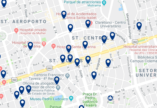 Accommodation in City Center – Click on the map to see all available accommodation in this area
