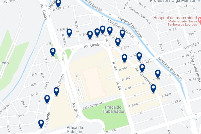 Accommodation in Setor Norte – Click on the map to see all available accommodation in this area