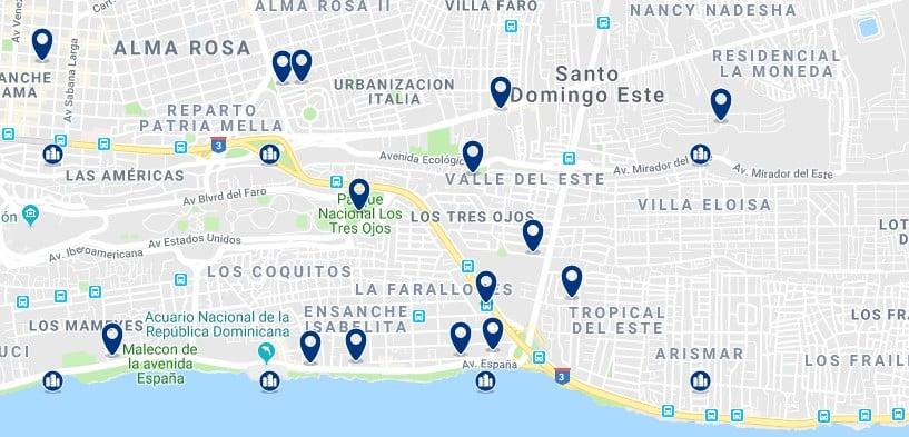 Alojamiento en el Este de Santo Domingo - Haz clic para ver todos el alojamiento disponible en esta zona
