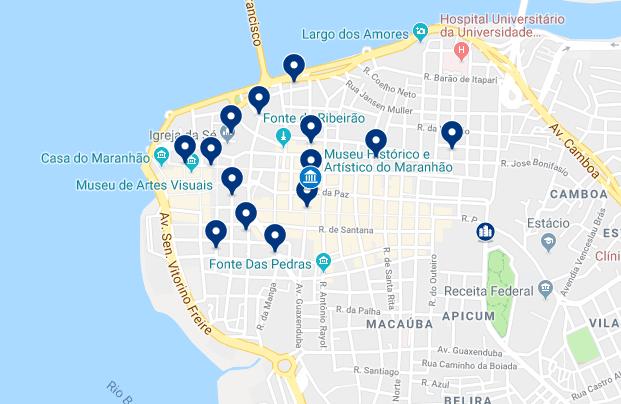 Alojamiento en el Centro de Sao Luis – Haz clic para ver todo el alojamiento disponible en esta zona