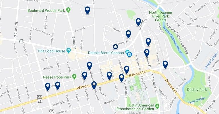 Alojamiento en Downtown Athens - Haz clic para ver todos el alojamiento disponible en esta zona