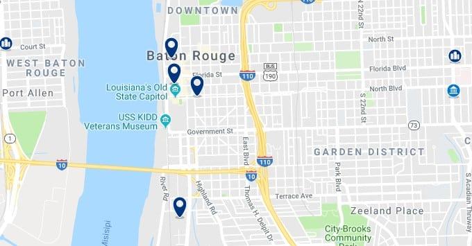 Alojamiento en Downtown Baton Rouge - Haz clic para ver todos el alojamiento disponible en esta zona