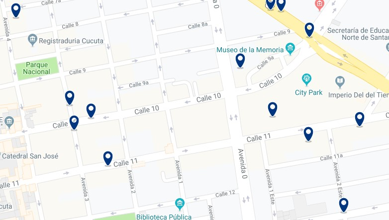 Accommodation near Ventura Plaza Shpping Center - Click on the map to see all available accommodation in this area