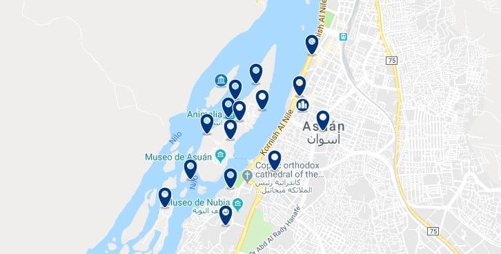 Alojamiento en la Isla Elefantina de Aswan - Haz clic para ver todos el alojamiento disponible en esta zona