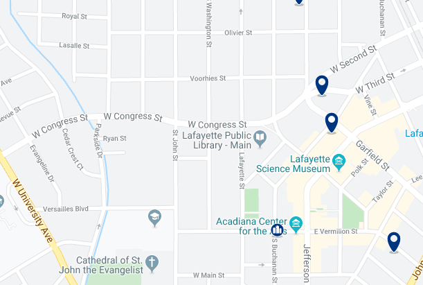 Accommodation in Northeast Lafayette - Click on the map to see all accommodation in this area