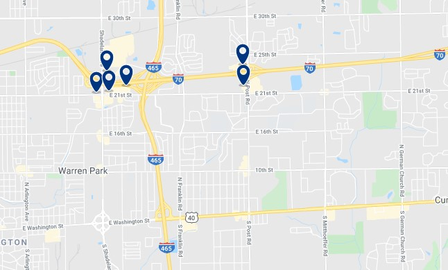 Accommodation in Warren Township - Click on the map to see all available accommodation in this area