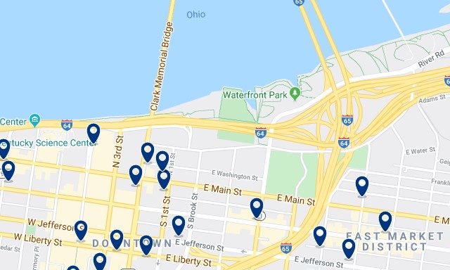 Accommodation in Waterfront Park - Click on the map to see all accommodation in this area