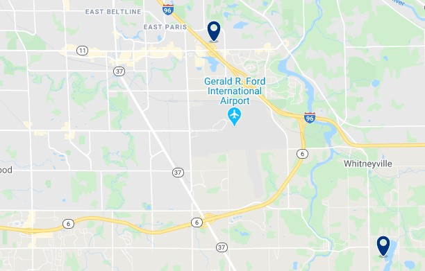 Accommodation near Gerald R. Ford International Airport - Click on the map to see all available accommodation in this area
