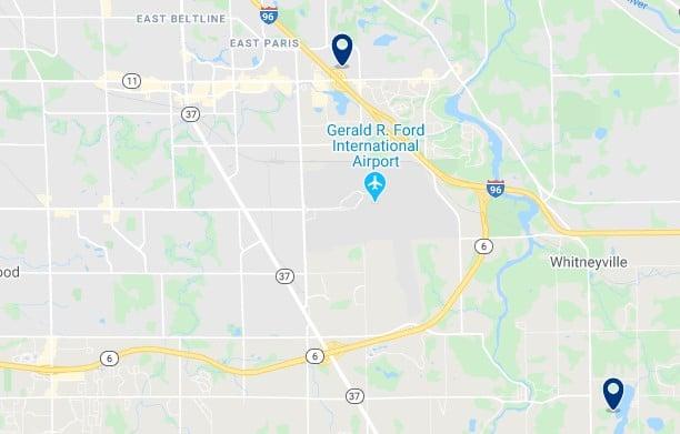 Alojamiento cerca del Gerald R. Ford International Airport - Clica sobre el mapa para ver todo el alojamiento en esta zona