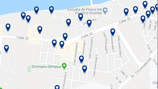 Accommodation in Barbasquillo – Click on the map to see all available accommodation in this area
