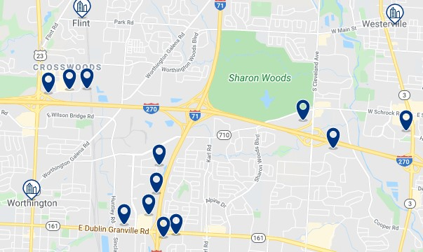 Alojamiento en Polaris - Clica sobre el mapa para ver todo el alojamiento en esta zona