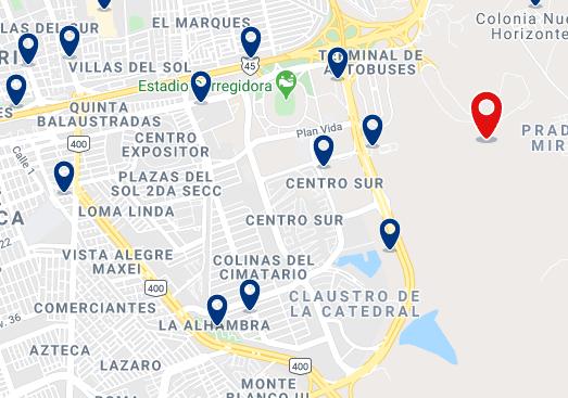 Alojamiento en el Centro-Sur y cerca del Centro de Congresos de Querétaro - Haz clic para ver todo el alojamiento disponible en esta zona