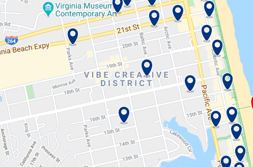 Accommodation in Virginia Beach - Click on the map to see all available accommodation in this area