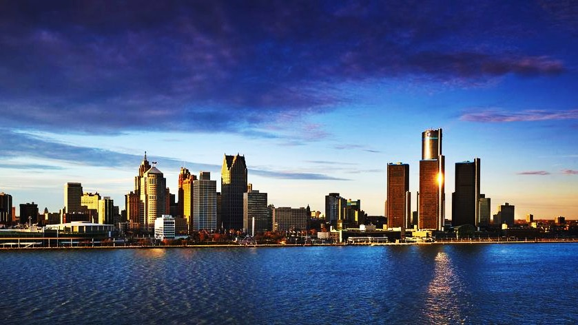 Views of Detroit from Windsor, one of the best areas to stay in Detroit
