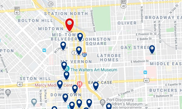 Accommodation near Penn Station - Click on the map to see all available accommodation in this area