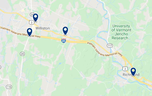 Accommodation near University of Vermont - Click on the map to see all available accommodation in this area