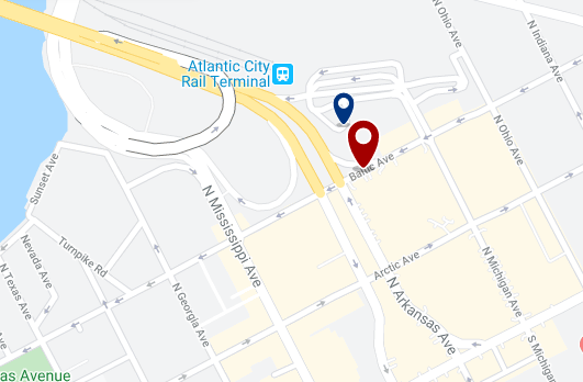 Accommodation near Atlantic City Convention Center - Click on the map to see all available accommodation in this area