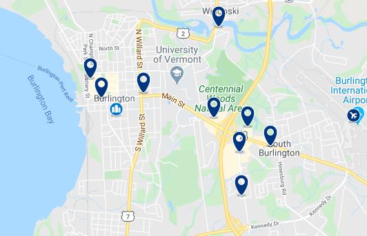 Alojamiento en el Downtown de Burlington - Haz clic para ver todo el alojamiento disponible en esta zona