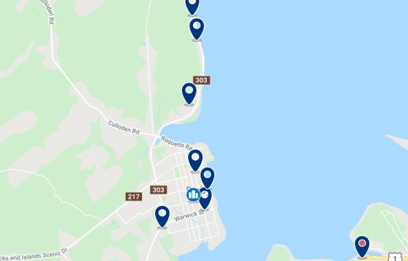 Alojamiento en Downtown y Waterfront - Haz clic para ver todo el alojamiento disponible en esta zona