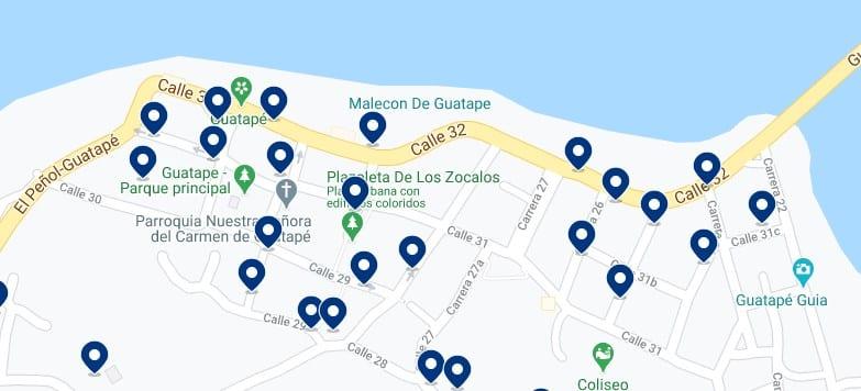 Alojamiento en el pueblo de Guatapé - Haz clic para ver todos el alojamiento disponible en esta zona